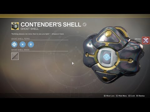 """Destiny 2 - New Leviathan Exotic Ghost Shell Drop """"Contender's Shell"""" - Quick Preview"""