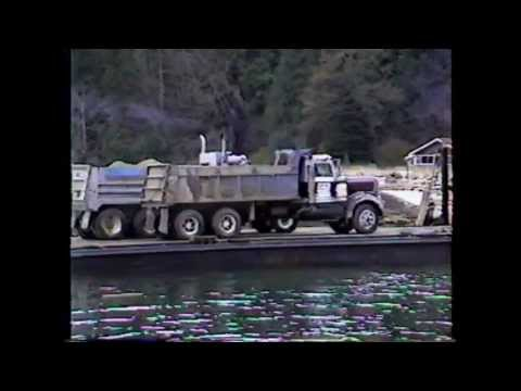 Thormanby Island, Gravel Barge.mpg