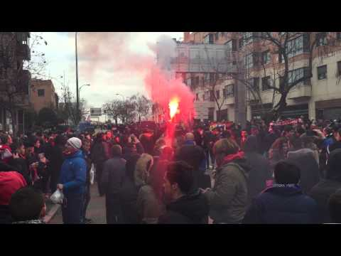 Atletico Ultras Pre Madrid Derby