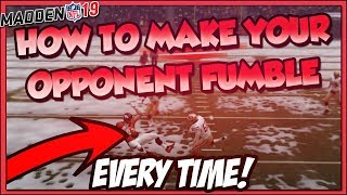 HOW TO MAKE YOUR OPPONENTS FUMBLE EVERY TIME! Madden 19 Ultimate Team