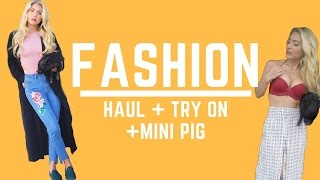 Spring Fashion Haul + Try On + Mini Pig