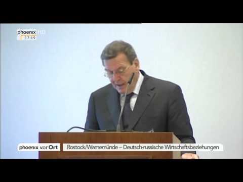 Unternehmertag: Gerhard Schröder zur Rolle Russlands am 01.10.2014
