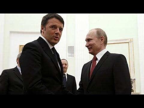 Der Ukraine-Konflikt ist das Topthema beim Treffen zwischen Renzi und Putin in Moskau