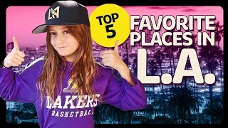 Top 5 Favorite Places in Los Angeles ft. Piper Rockelle | Sophie Fergi