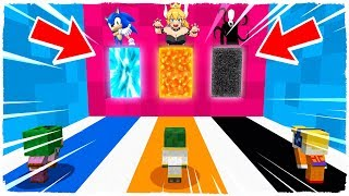 DO NOT CHOOSE THE WRONG DIMENSION! Bowsette, Sonic and Slenderman in Minecraft