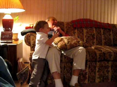 Very Funny Harmonica Jam Session featuring eddie and his Grandfather Hilarious