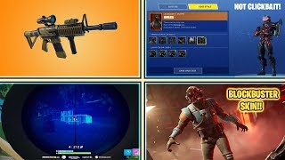 *NEW* BLOCKBUSTER SKIN, CUSTOMIZABLE OMEGA, THERMAL SCOPED ASSAULT RIFLE! (Fortnite Battle Royale)