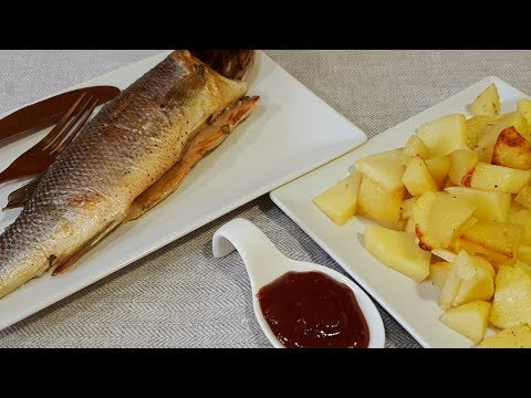 Рыба с картофелем в рукаве.Самый вкусный рецепт настоящее объедение .