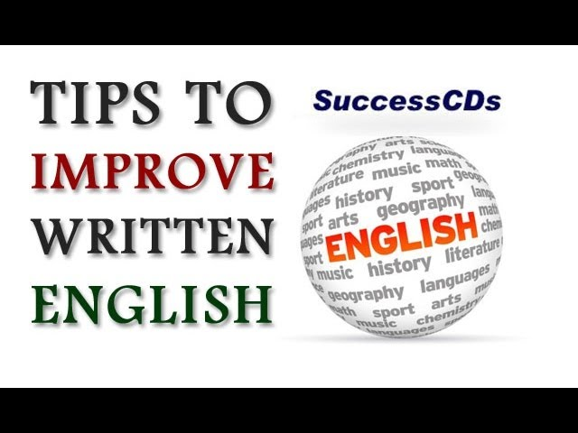 How to improve your writing Skills in English ?
