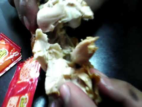 pollo campero con gusanos