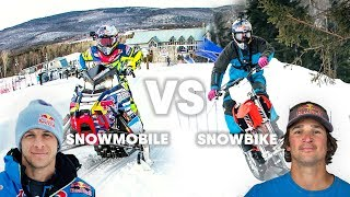 SNOWMOBILE vs SNOWBIKE: What's faster in a race?