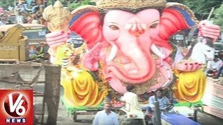 Ganesh Nimajjanam Procession Continuous At Tank Bund | Hyderabad