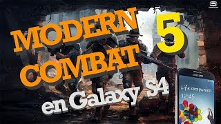 Modern Combat 5:BLACKOUT en Samsung Galaxy S4 Review