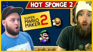 Getting TROLLED by Ryukahr Once Again! Hot Sponge 2: Boom Boom BOOM! - Super Mario Maker 2
