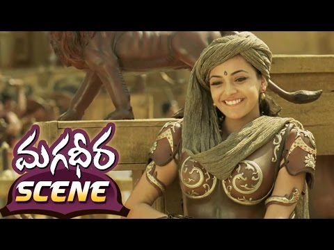 Ram Charan Teaching Archery To Kajal Aggarwal || Magadheera Telugu Movie || Dev Gill