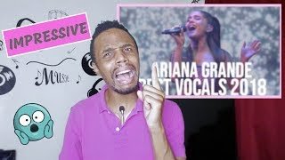 Ariana Grande's HIGHEST NOTES in 2018! {Reaction}