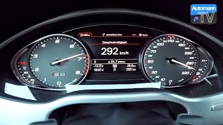 2017 Audi S8 plus (605hp) - 0-300 km/h acceleration (60FPS)