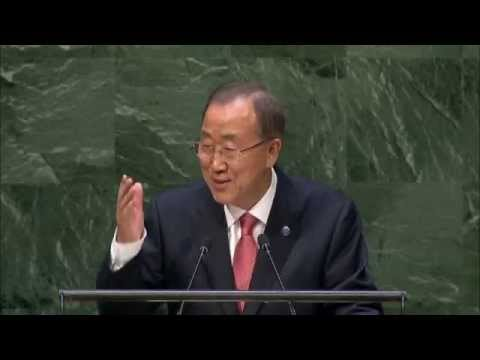 Ban Ki-moon at the General debate of the 69th Session of the General Assembly