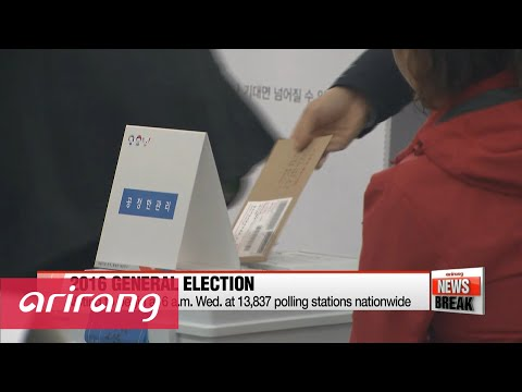 ARIRANG NEWS BREAK 10:00 Election 2016: polling stations to open Wednesday