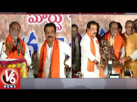 BJP Laxman Slams TRS Govt At Jana Chaitanya Bus Yatra In Patancheru | Sangareddy | V6 News