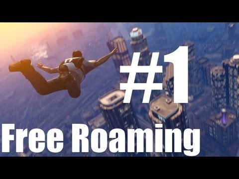 Grand Theft Auto V - Free Roam Walkthrough - Part 1 - CHEATS