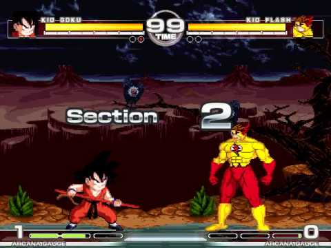 MUGEN : Kid Power Kid Goku vs Kid Flash