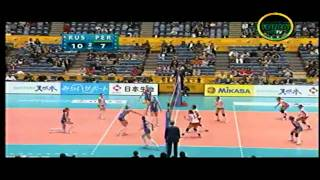 Peru vs Rusia - Mundial de Voley 2010 Set II 2/3 HD
