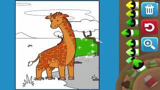 Game giáo dục - Game tô tranh mầu Hươu cao cổ cho bé