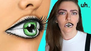 I Tried Following A Troom Troom Halloween Makeup Tutorial
