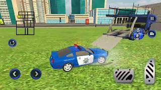 US Police Limousine Car Airplane Transport GamesRobot Car By Mizo Studio Inc Android Gameplay HD