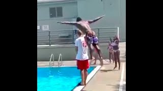 Staten Islander leaps over lifeguard, goes viral