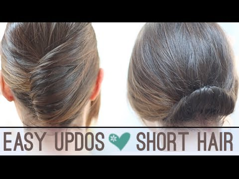 Hairstyles For Short Hair For Work : Easy updos for short hair - YouTube
