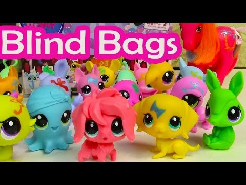 Blind Bag HAUL Littlest Pet Shop Party Stylin Pets BOX case LPS toy review opening