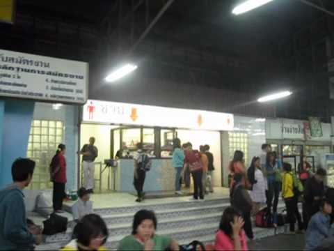 Mo Chit Bus station arrival to Taxi Meter area Bangkok Thailand.mkv