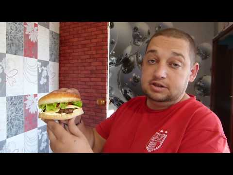 Бургер от папы/Вкусный перекус/Булочка с кунжутом
