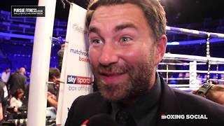 EDDIE HEARN IMMEDIATE REACTION TO DILLIAN WHYTE WIN OVER OSCAR RIVAS/ALLEN-PRICE & LOMA-CAMPBELL