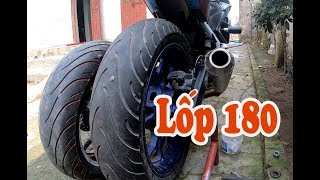Up 5-inch wheels and 180 tires for Yamaha R3 || Big cake