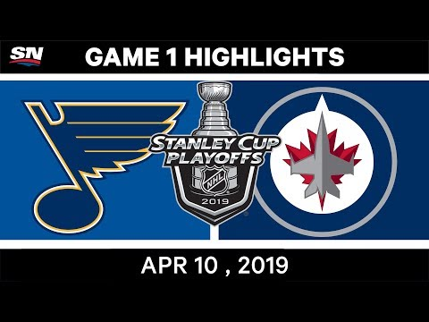 NHL Highlights | St. Louis Blues Vs Winnipeg Jets, Game 1 - April 10, 2019