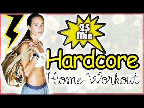Hardcore Bikini Workout - 25 Min - Bauch Beine Po & Oberkörper Training für Zuhause - HIIT
