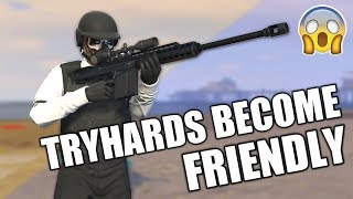 GTA Tryhards Become My Friends! GTA 5 Online (unexpected)