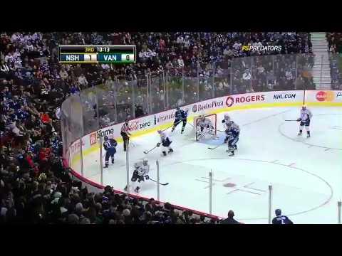 Vancouver Canucks vs Nashville Predators Highlights 1/24/11