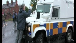 Kelly faces down PSNI aggression