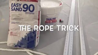 The Rope Trick - Drywall Reveal Bead Installation - Flush Baseboards