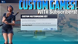 🔴 Playing Custom Lobbies with Subscribers! // Fortnite Battle Royale
