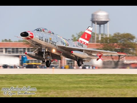 Listen for the BOOM of the afterburner as Dean Cutshall performs in his rare and beautiful F-100 Super Sabre at the Thunder Over Michigan 2010 airshow. For more airshow videos, photos, and...
