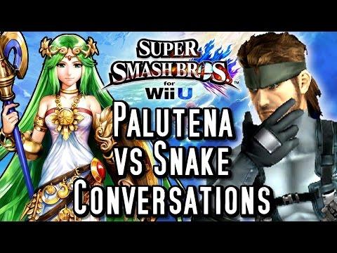 Super Smash Bros Wii U PALUTENA'S Guidance vs SNAKE'S Codec Calls! Conversations Comparison (HD)