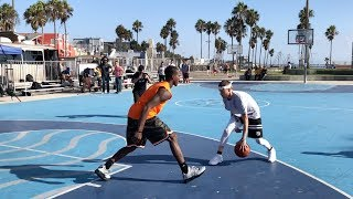 The Professor vs Pro Competition at Venice Beach.. DESTROYS 6'3