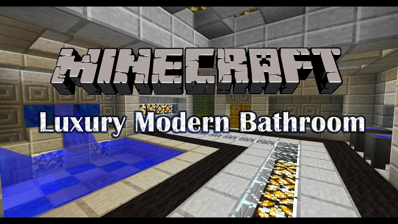Minecraft tutorial luxury modern bathroom youtube for Bathroom ideas minecraft