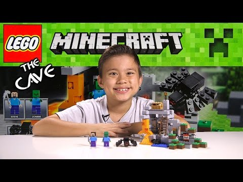 LEGO MINECRAFT - Set 21113 THE CAVE - Unboxing. Review. Time-Lapse Build