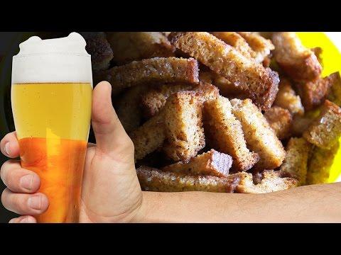 Как сделать сухарики к пиву  Рецепт